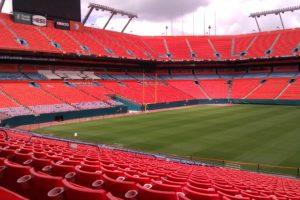 Sicht von der Tribüne im Hard Rock Stadium, Miami