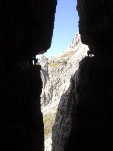 Alpinsteig, Sextener Dolomiten, Italien