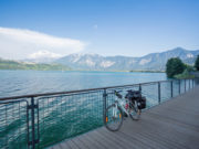 Cycle touring in Italy, Via Claudia Augusta at Caldonazzo lake