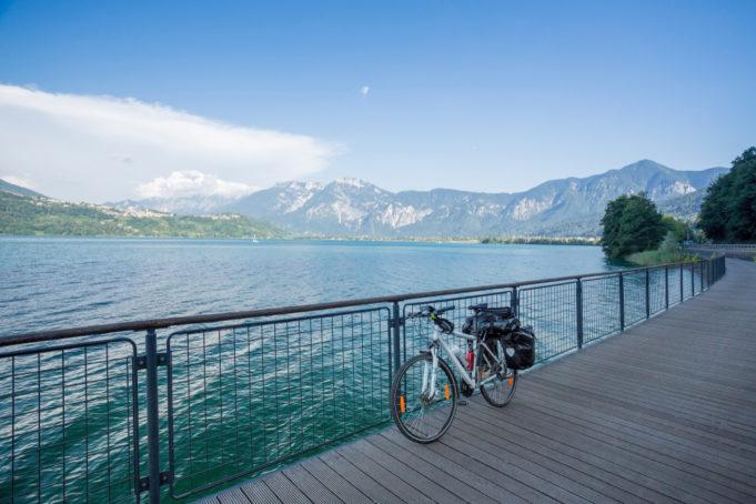 Cycle touring in Italy, Via Claudia Augusta at Caldonazzo lake