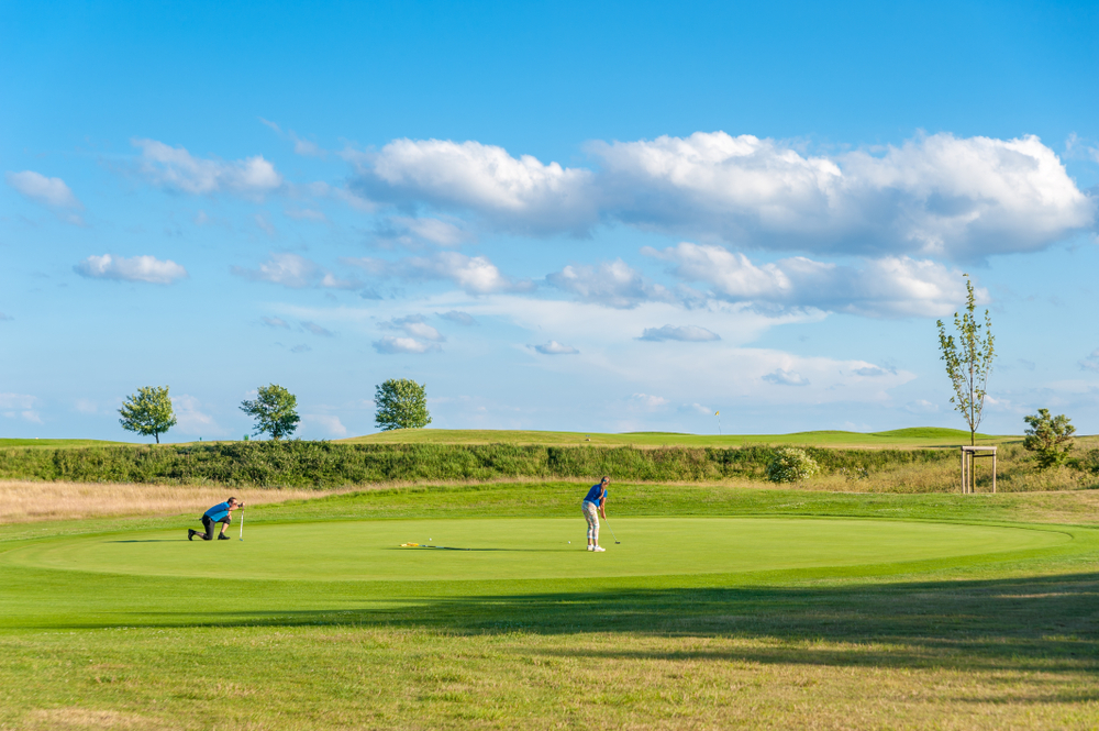 Golf course at Wulfener Hals on the island Fehmarn at the Baltic Sea