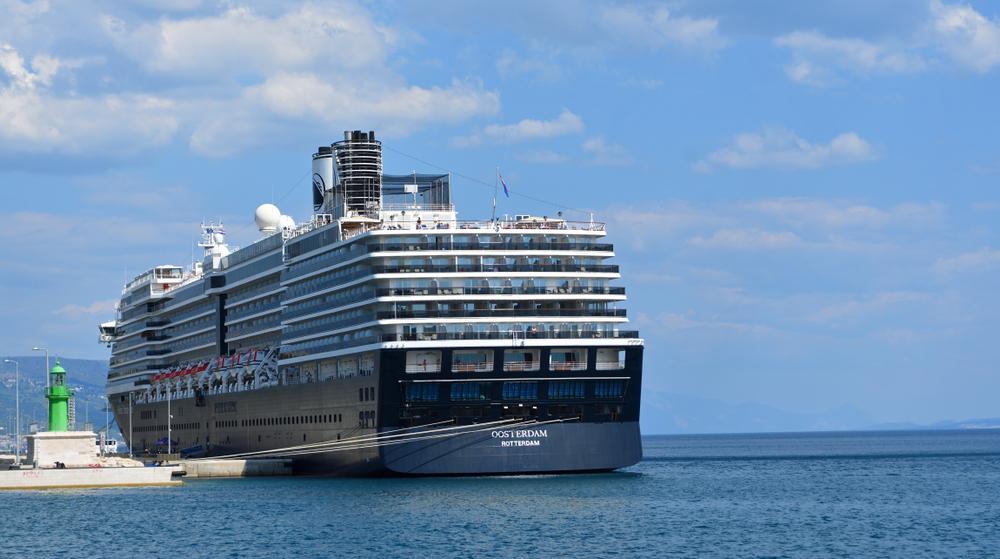 SPLIT, CROATIA - JUNE 18, 2018: Cruise Ship Oosterdam moored at the port of Split Croatia.