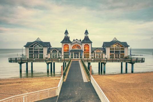 The Pier of Sellin on Ruegen Island, January 27th 2018, Mecklenburg-Vorpommern region ,Mecklenburg Coast, Baltic Sea, Germany,