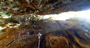 Climbing in Cueva Larga - Vinales, Cuba