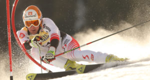 ADELBODEN SWITZERLAND JANUARY 5 Matthias Lanziger Austria Competing in the Audi FIS Alpine Ski World Cup Events 2007-2008