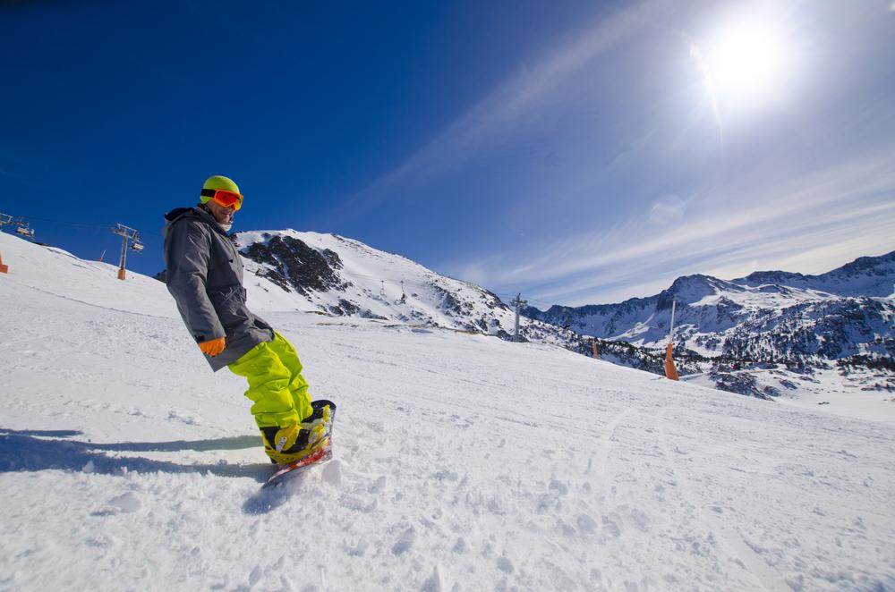 snowboarder in grandvalira, Soldeu, Andorra