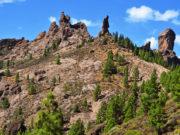a view of Roque Nublo in Gran Canaria, Spain