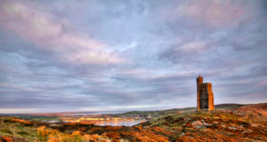 South of the Isle of Man with Milner Tower. Tranquil scene