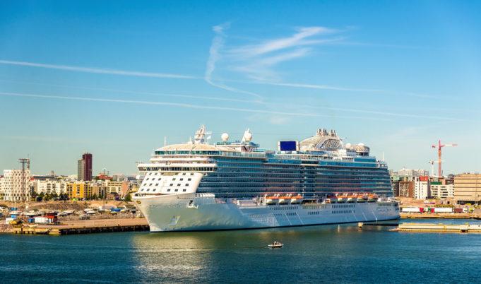 Cruise ship in Port of Helsinki - Finland
