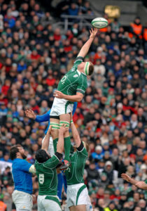 DUBLIN, IRELAND-FEBRUARY 02, 2008: rugby players in action during the Six Nations rugby match Ireland vs Italy, at the Croke Park stadium, in Dublin.