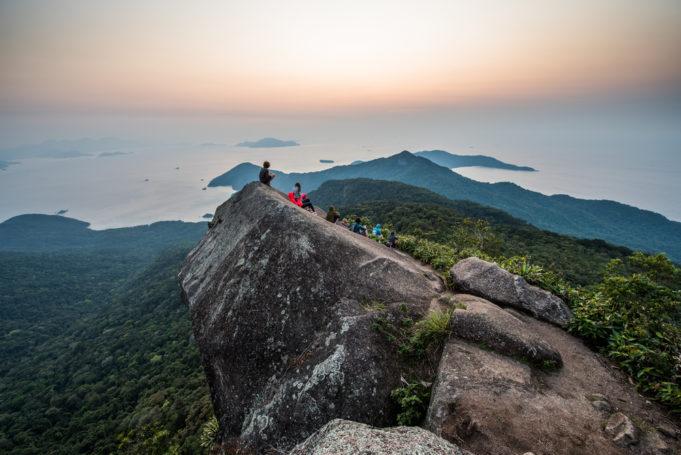 Trekking in Ilha Grande to Pico do Papagaio Mountain, Costa Verde south of Rio de Janeiro, Brazil