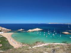 "Main view of ""Pregonda"" beach, one of the most beautiful spots in Menorca, Balearic Islands, Spain."