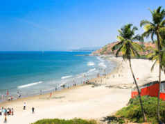 Beautiful Tropical beach in Vagator,Goa, India