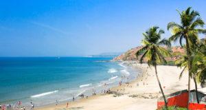 Beautiful Tropical beach in Vagator,Goa, India
