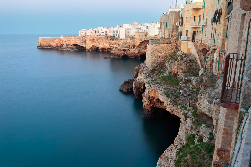 Polignano a Mare houses on the sea, Apulia, Italy