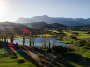 Aerial view of a golf course in south africa