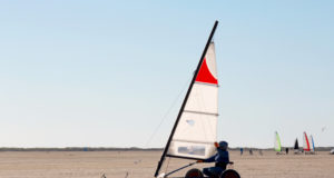 Beach sailing on the island roemoe denmark