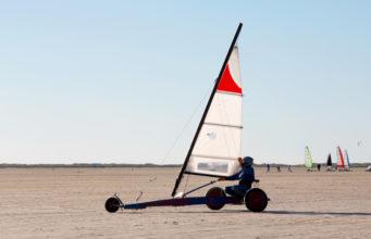 Beach sailing on the island roemoe denmark