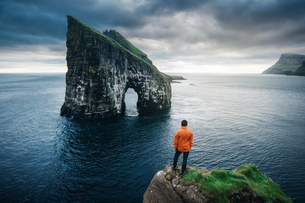Drangarnir gates, Faroe islands