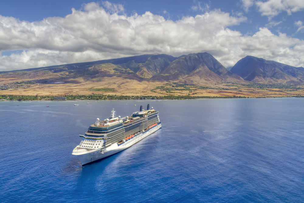 Cruise Ship - Island of Maui, Hawaii