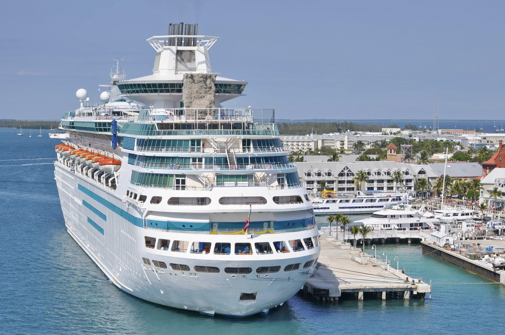 Cruise Ship in the Port of Key West, Florida, United States