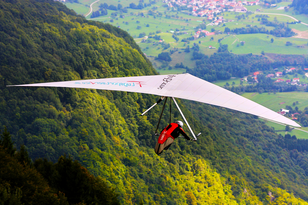 Primash Cate competes in the Kobala Open-2010 hang gliding competitions at Kobala mountain on August 20, 2010 near Tolmin, Slovenia.