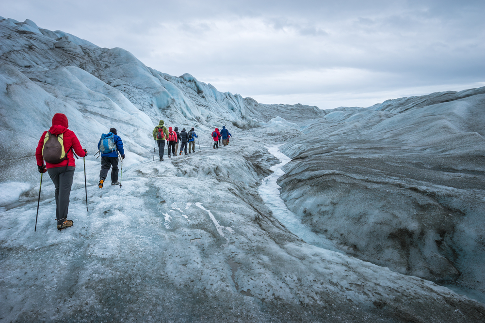 Hiking tour on the Greenland Icecap near Kangerlussuaq