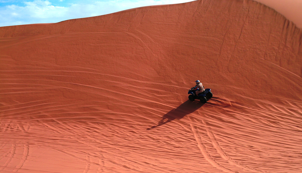 ATV driving at Namib desert near Swakopmund