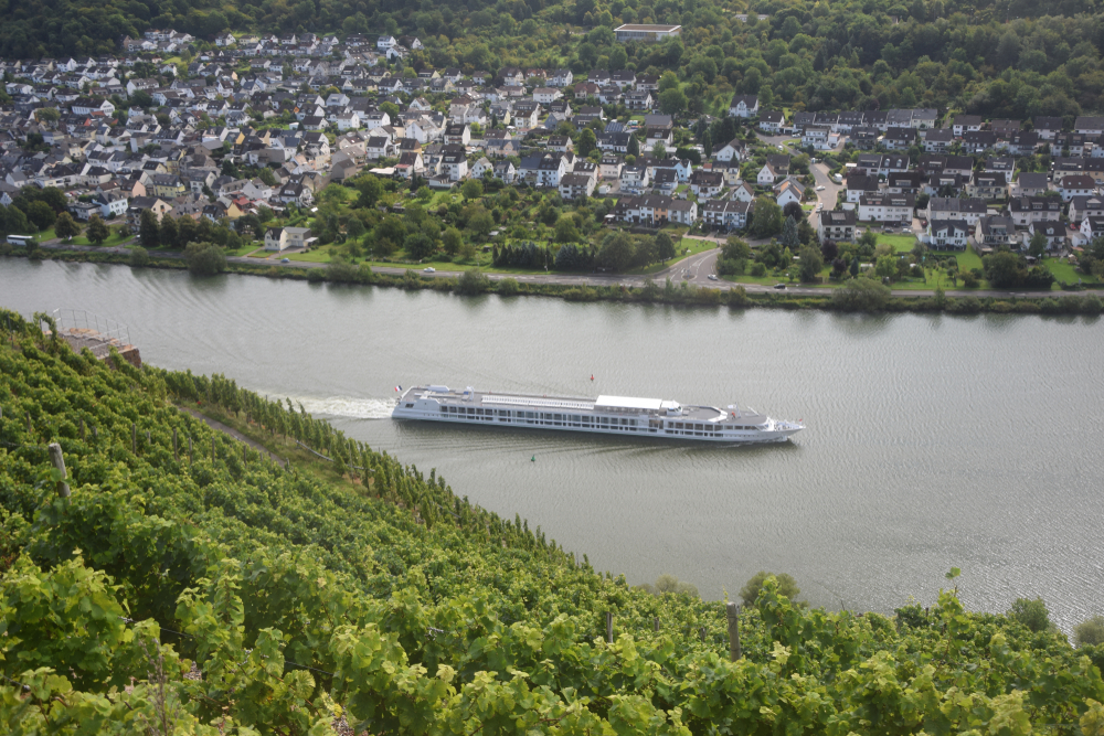 Cruise ship at Koblenz