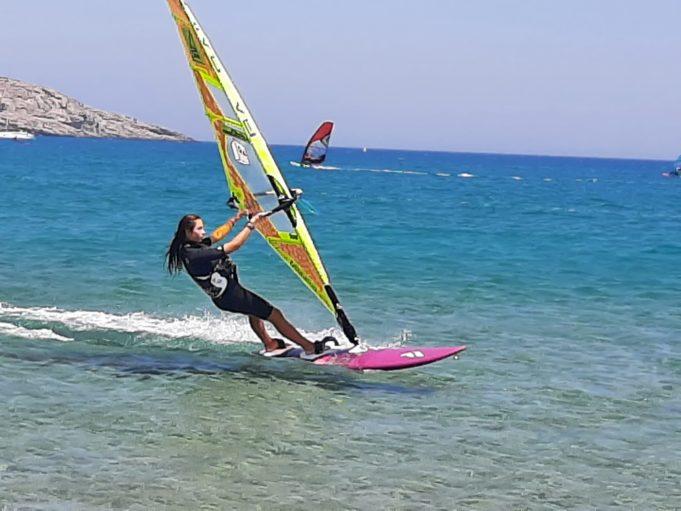 Surfen an der Südküste von Rhodos